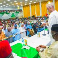 Gov Sule Swears- in Newly Elected Council Chairmen, Charges Them On Accountability